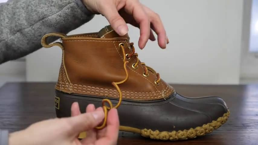 Duck Boots - Create a small loop