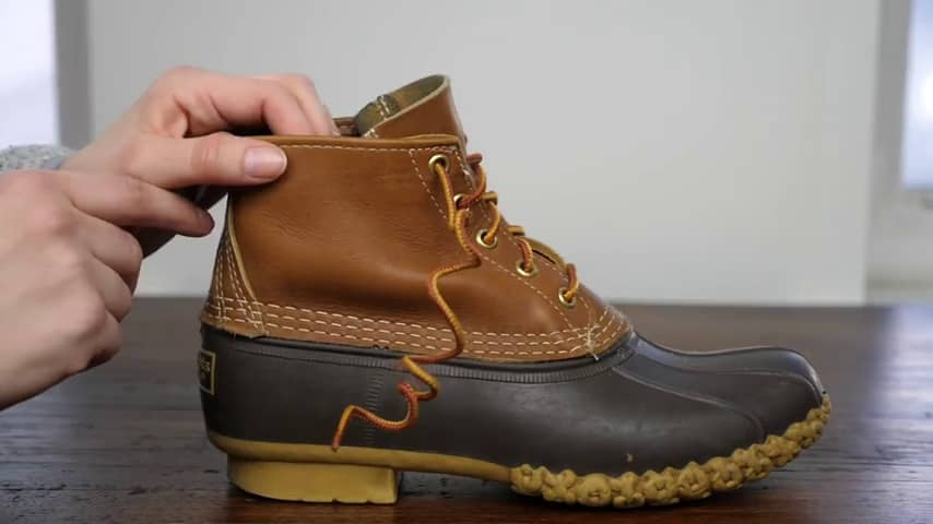 How to Tie Duck Boots-Wrap the lace
